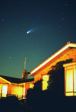 Comet over house